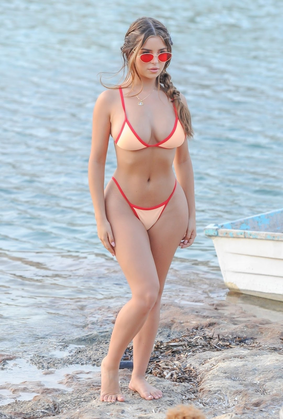 Demi Rose in a Tiny Bikini in Ibiza 08/13/2018