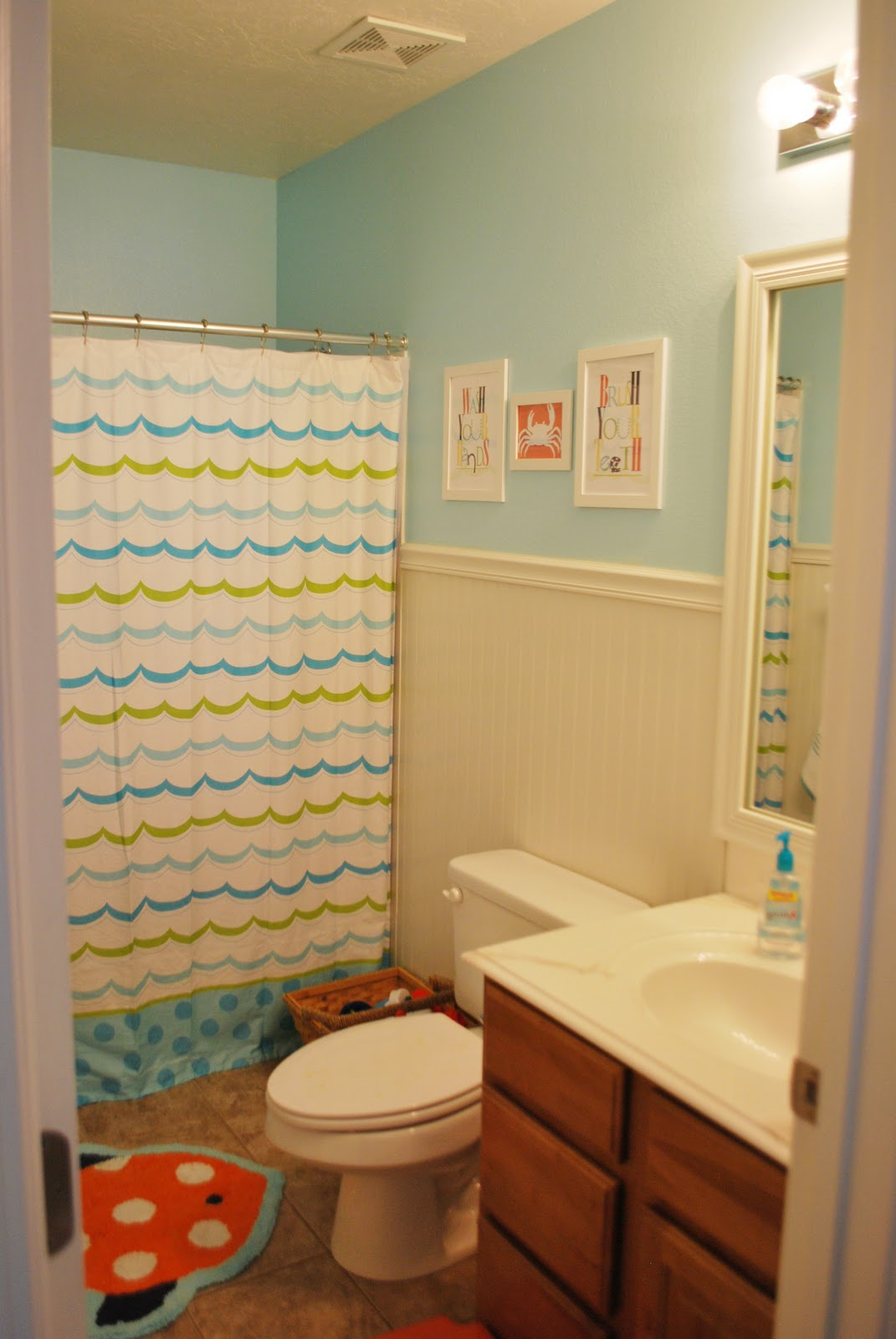 Remodelaholic   Bright Kids Bathroom Reveal on Fun Bathroom Ideas  id=82987