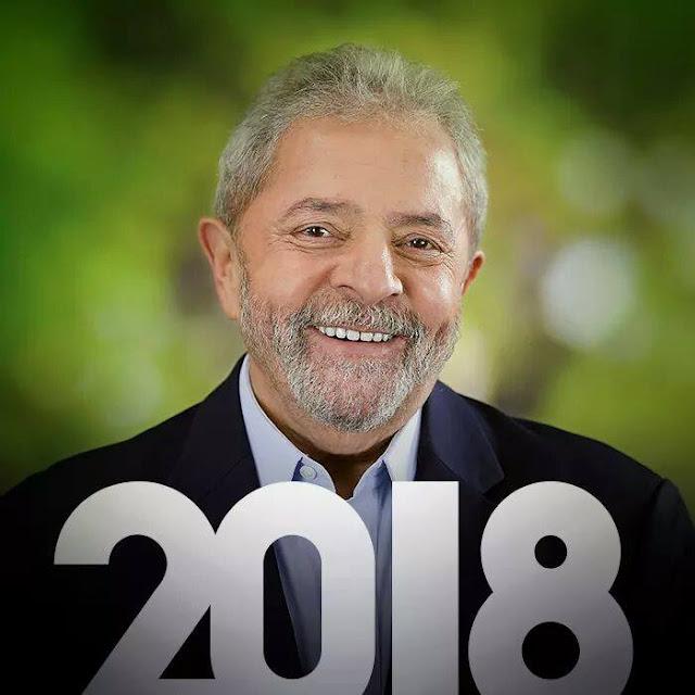 Resultado de imagem para L)ula em 2018
