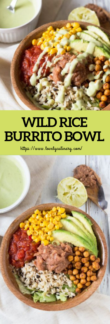 WILD RICE BURRITO BOWL #vegan #vegetarian