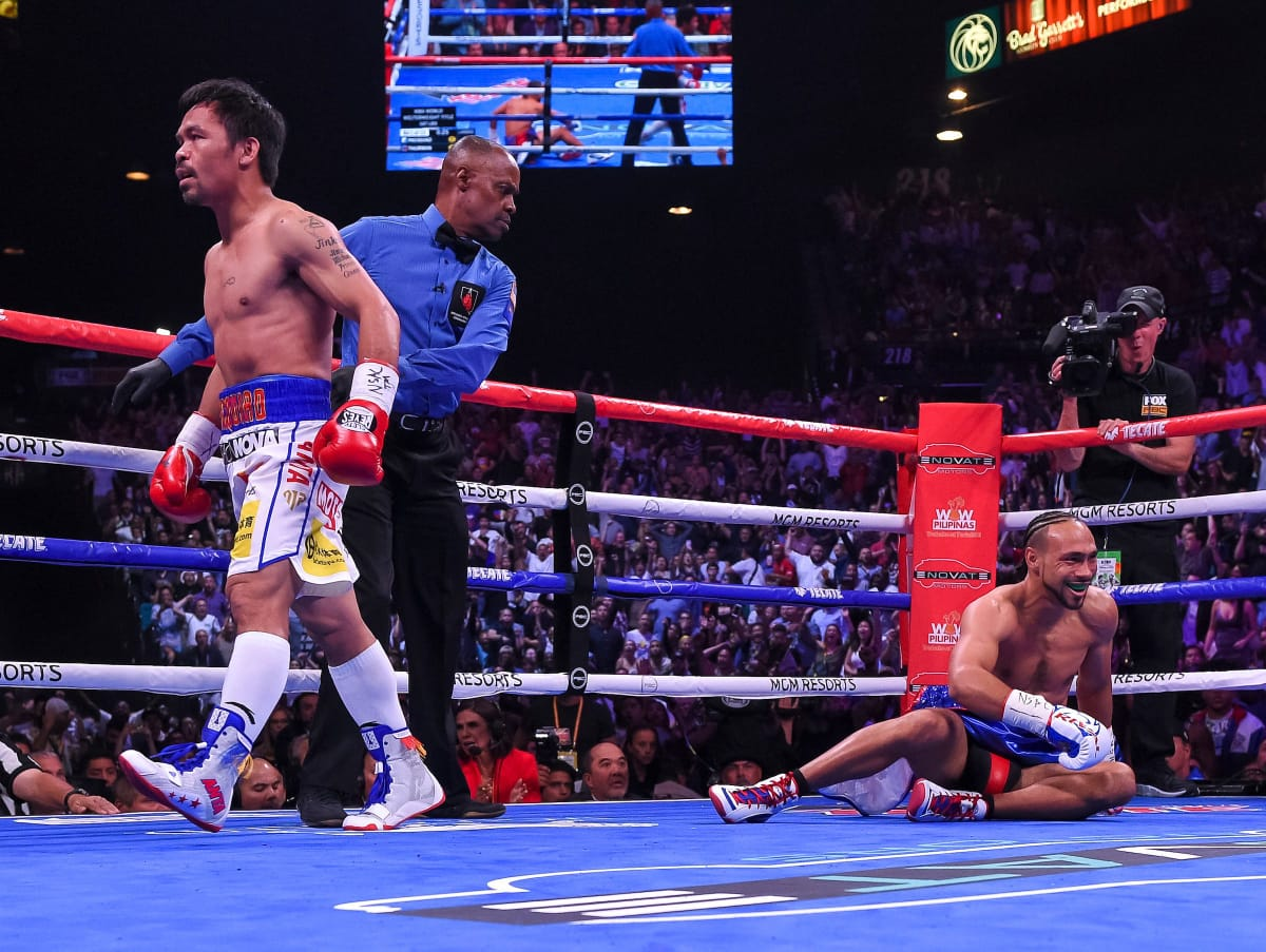 Manny Pacquiao Decisions Keith Thurman (REPLAY VIDEO)