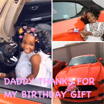 reverend obofour buys ford mustang for his daughter 9th birthday