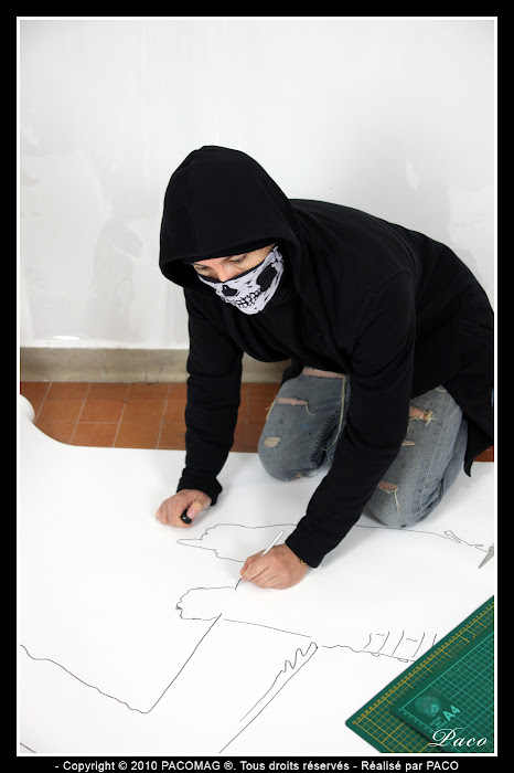 préparation pochoir pour street art