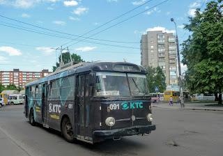 Ровно. Соборная ул. Троллейбусы