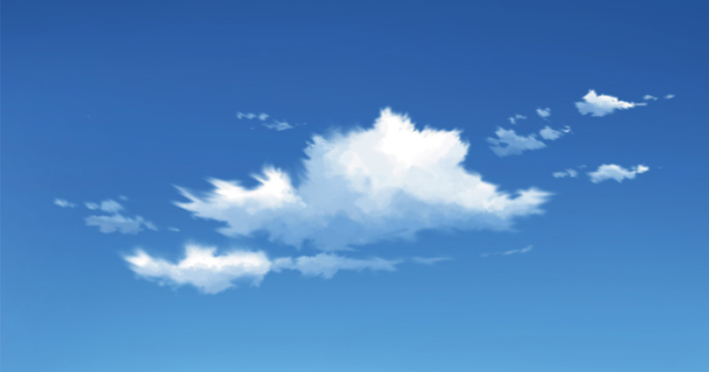 smudge tool anime cloud painting
