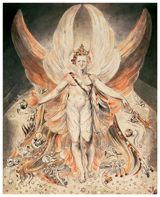 Satan in His Original Glory, pintura de William Blake