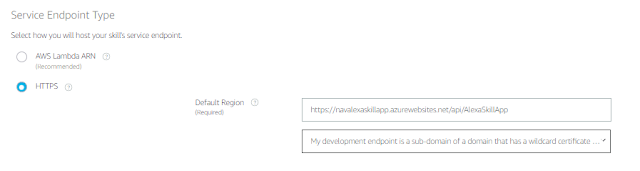Azure endpoint which has request/response code - configured