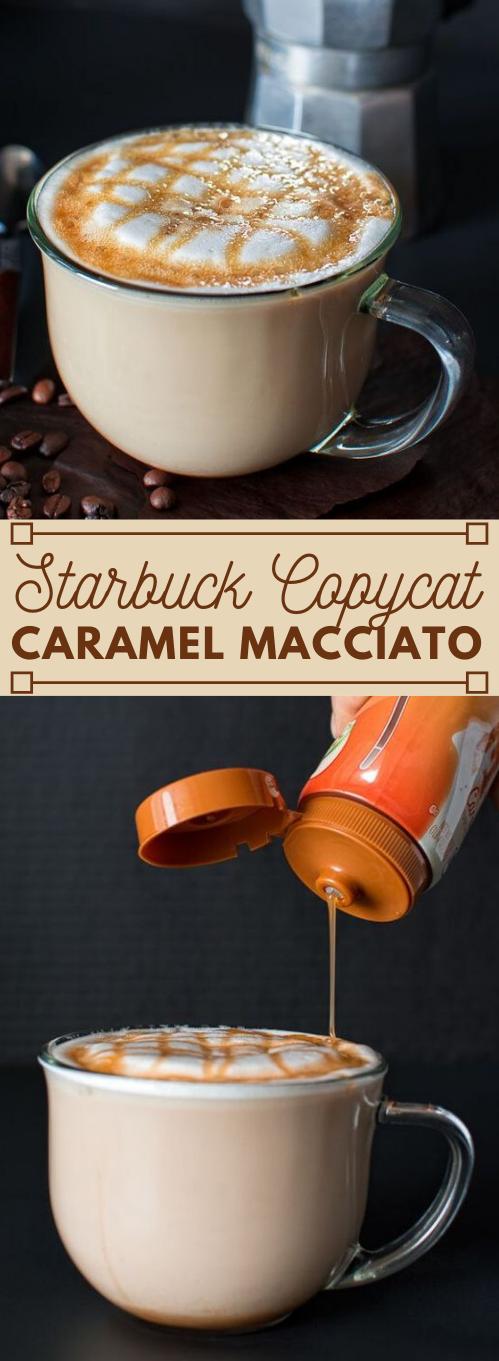 COPYCAT STARBUCKS CARAMEL MACCHIATO #drink #caramel #sangria #starbucks #recipes