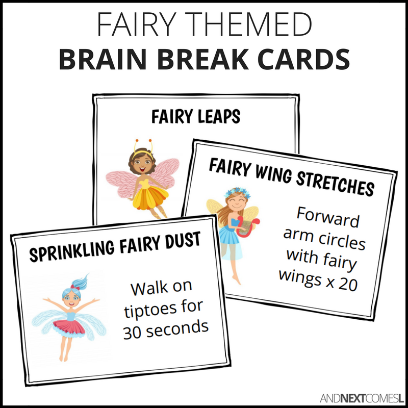 Printable brain break cards