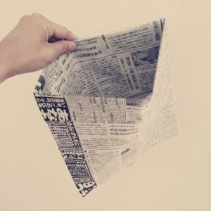 新聞紙ゴミ箱ゴミ袋エコ