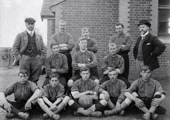 Photograph of North Mymms Football Club 1st eleven 1901-02 - Image from R. Papworth