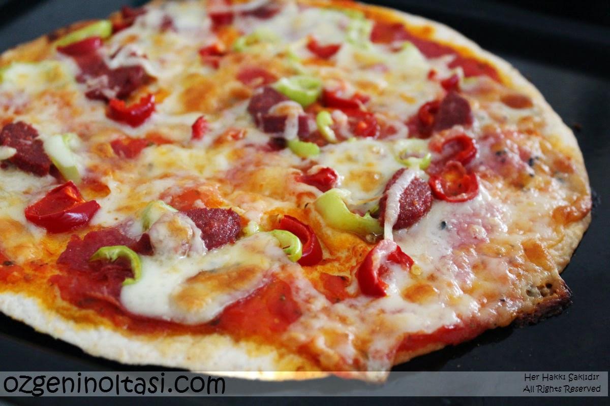 Diyet pizza - evde pişirin. Fotoğraflı Tarifler