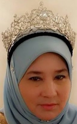 aquamarine tiara pahang malaysia queen tengku ampuan azizah