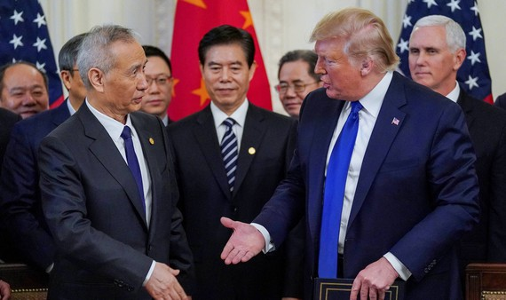 US President Donald Trump and Chinese Vice Premier Liu