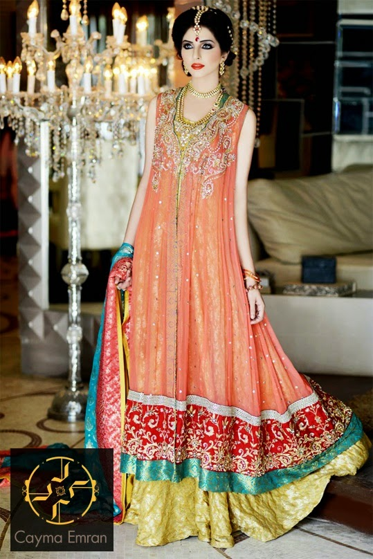 Latest Beautiful Pakistani Engagement Dresses For Girls For Year 2014 15 The Trendies