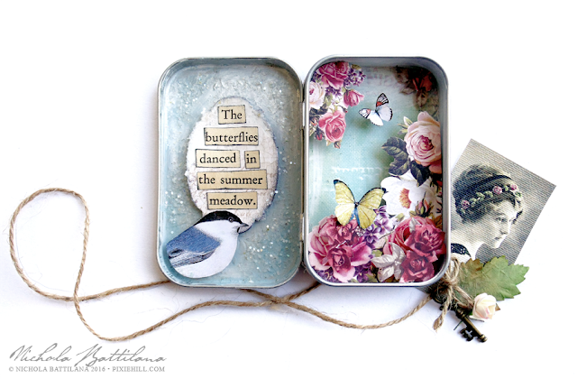 Butterfly Meadow Altoid tin - Nichola Battilana