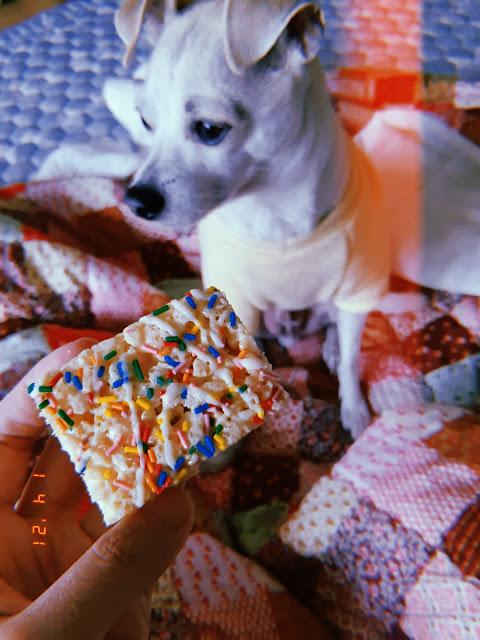 rice krispies birthday cake
