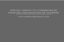 How do I donate to a fundraiser or charitable organization on Facebook?