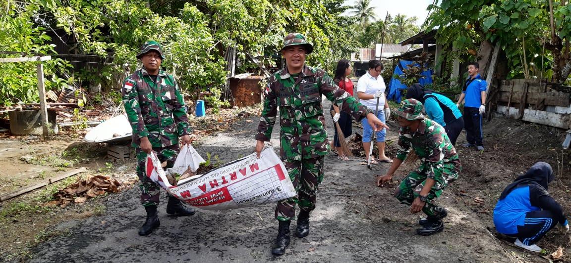 Karya Bakti Bersama 2020 Koramil 1312-05/Essang Di Kecamatan Essang