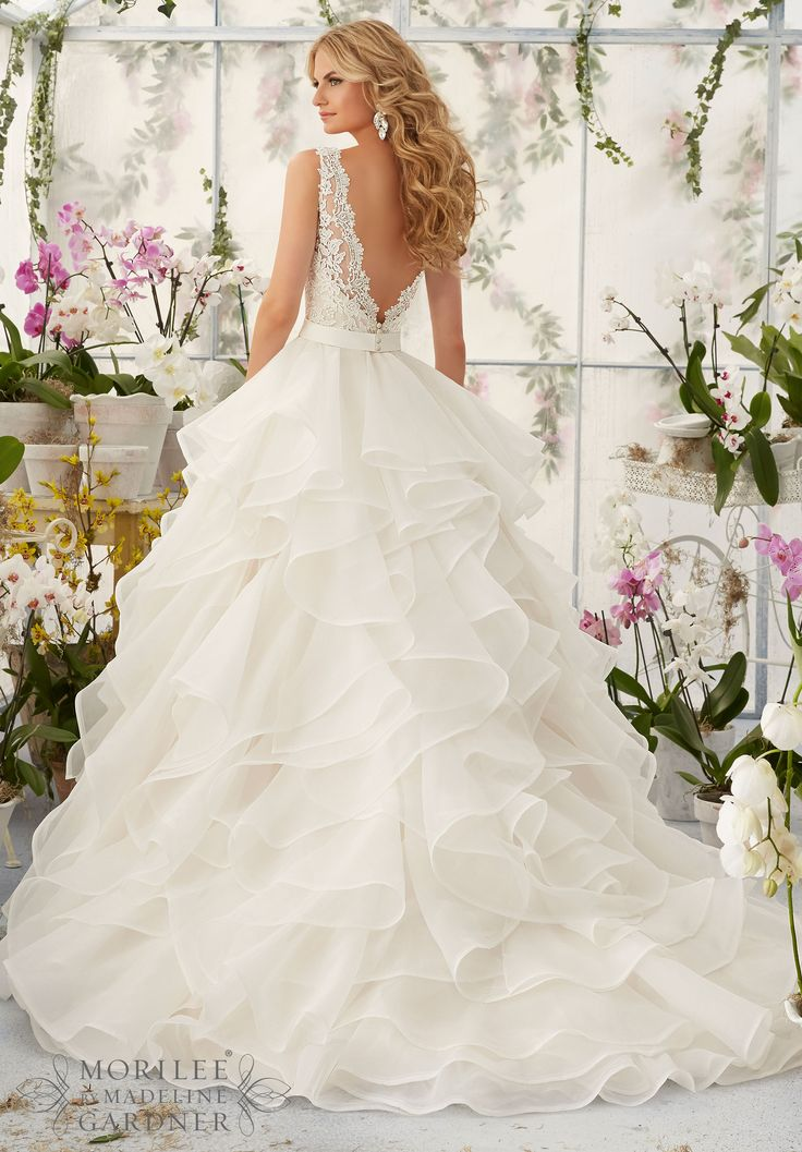 Flawless Organza White Wedding Gowns Mori Lee | Prom gowns and ...