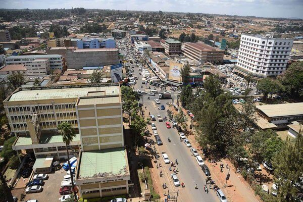 Eldoret town Arial view. PHOTO | NMG