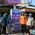 Hj Hakimah Anggota DPRD Ciamis Bersama Relawan ikut Serta Perangi Penyebaran Virus Covid di Pasar Purwadadi
