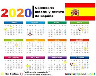 Días-festivos-de-España-en-el-2020-Días-feriados-de-España-en-el-2020-Calendario-España-2020-Calendario-español-2020-Calendario-festivo-de-España-2020-Calendario-laboral-y-festivo-de-España-2020-Calendario-laboral-de-2020-con-sus-días-festivos-y-puentes.-Calendario-escolar-2020-días-lectivos-festivos-puentes-y-vacaciones-en-cada-comunidad-de-España-Días-feriados-en-España-Feriados-en-España-2020-Festivos-que-comparten-todas-las-comunidades-en-2020-Festivo-en-la-mayoría-de-las-comunidades-autónomas-Calendario-laboral-España-2020