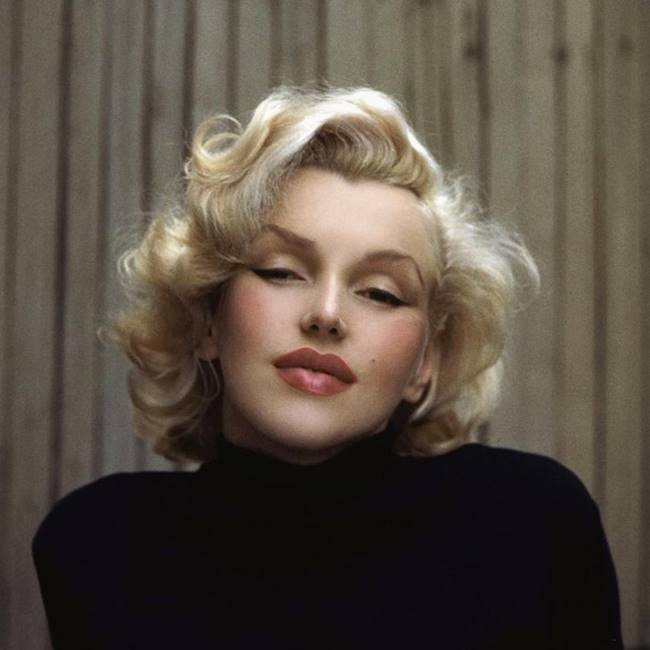 Marilyn Monroe before processing