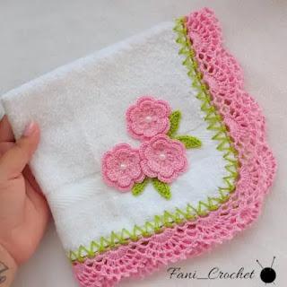 Puntilla para toalla a Crochet