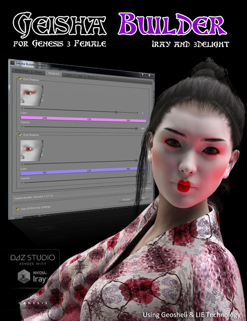 Geisha Builder for Genesis 3 Female