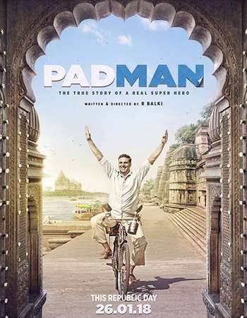 Poster Of Hindi Movie Padman 2018 Full HD Movie Free Download 720P Watch Online