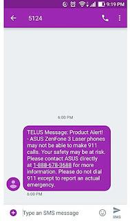 Asus Zenfone 3 Laser tdk bisa menelpon 911