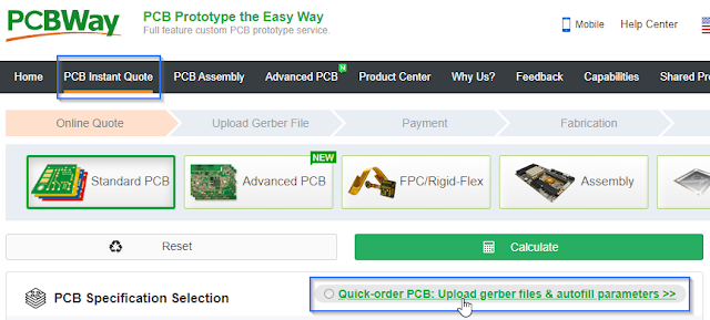 Upload Gerber to PCBWay