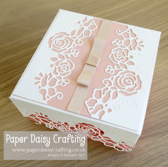 Lovely Flowers Framelits dies gift box Stampin Up