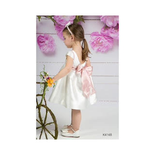 baptism dress with flowers pattern