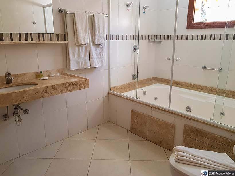 Banheiro do flat na Pousada Campos dos Holandeses - Onde ficar em Campos do Jordão