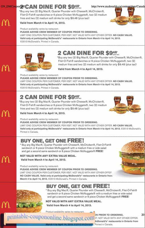 Mcdonalds coupons online 2019