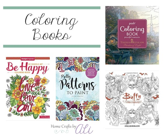 Recently published relaxing adult coloring books - flowers inspiration and buffy the vampire slayer