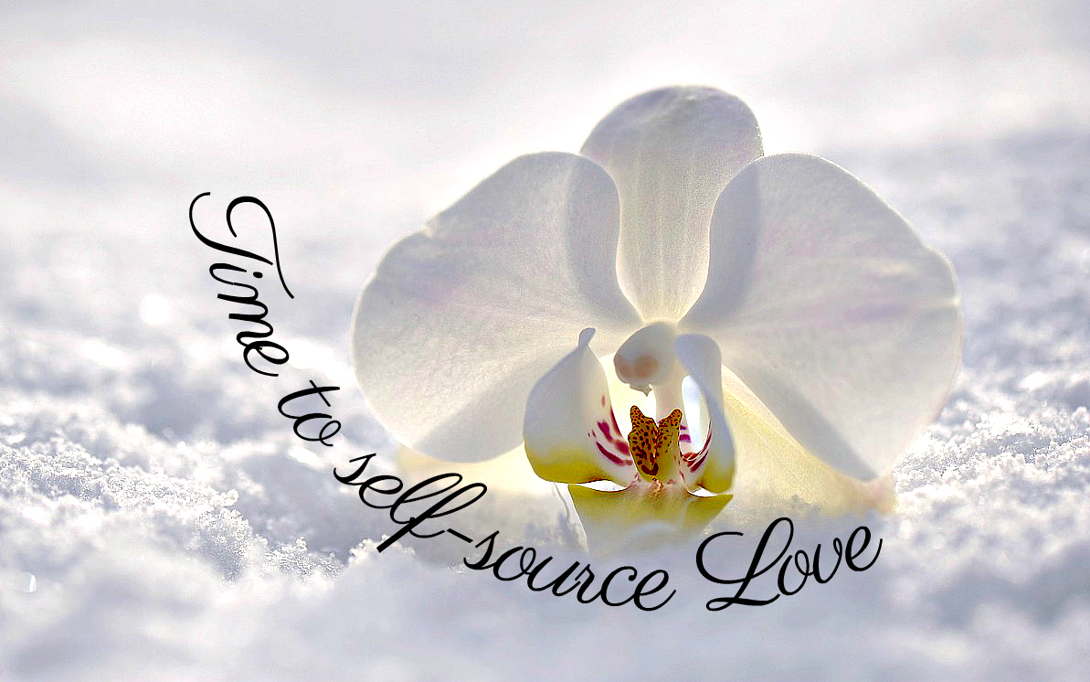 Winter Solstice, time to self-source Love! orchid on snow