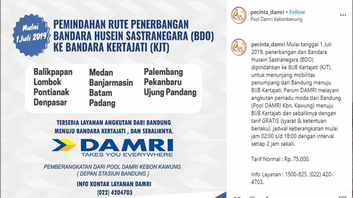 Damri Bandung Ke Bandara Kertajati Ini Infonya Bus Damri