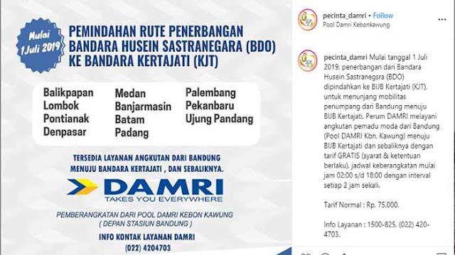 Damri Bandung ke Bandara Kertajati, Ini Infonya