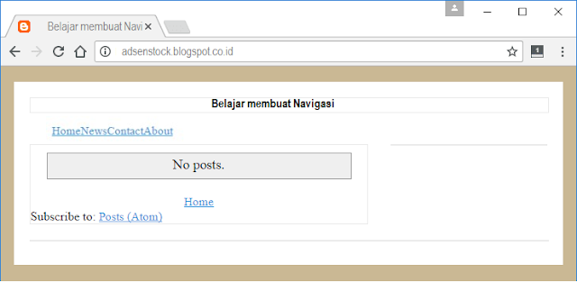 Cara Membuat Menu Navigasi Template Blog Seo