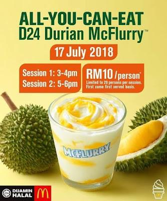 All-You-Can-Eat D24 Durian McFlurry™ |   Khabar Gembira Buat Pencinta Durian & Aiskrim