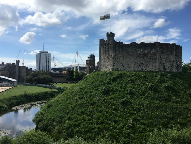 #MySundayPhoto-Number-22-Cardiff-Castle-Keep-with-principality-stadium-in-the-background