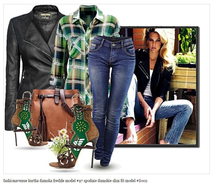 4782336d21 Stylizacja na Wiosnę Kurtka Damska model  97 + Spodnie Jeans model   S002 w  sklepie FASHIONAVENUE.PL