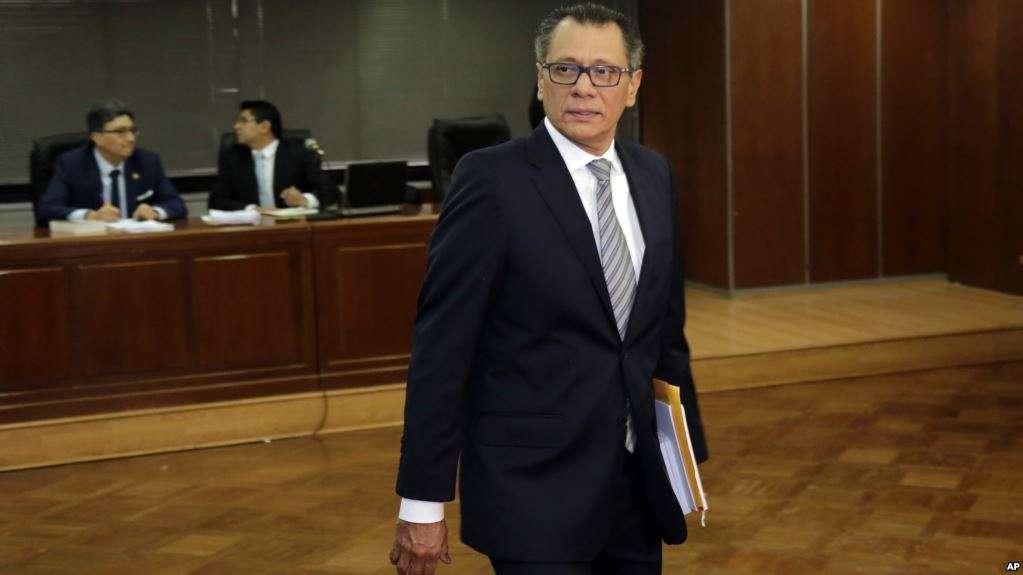 Exvicepresidente Jorge Glass en su audiencia de apelación por una sentencia de seis años / AP