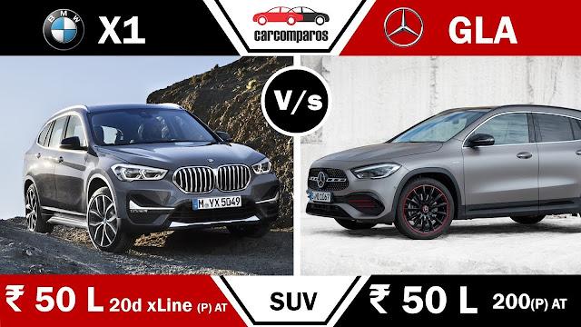 GLA vs X1 2021 Hindi मर्सिडीज बेंज GLA v BMW X1 SUV Comparison Review