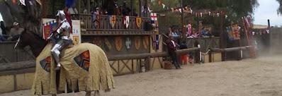 Renaissance festival jouster.