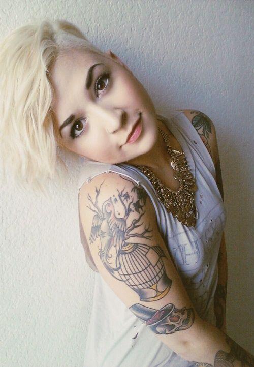 Imagenes de tatuajes en el brazo recopilados por temas for Hair tattoo for girl