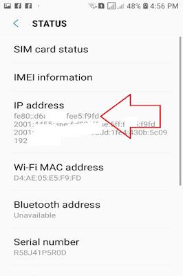 Samsung Mobile Phone MAC Address